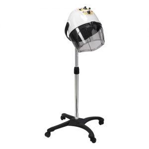 Casco asciugacapelli Basic AGV Group disponibile a 1 e 4 velocità di ventilazione (anche con emissione di Ioni), bianco o nero, con base o braccio a muro.
