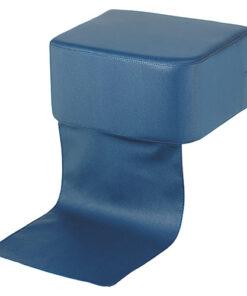 Cuscino rialzo Rex AGV Group per poltrona parrucchiere. Cuscino alza-bimbi rivestito in finta pelle color nero
