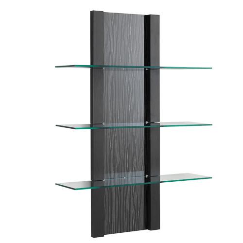 Espositore Inbox AGV Groupper parrucchiere ed estetista in legno laminato con mensole in vetro. Colori come da campionario.