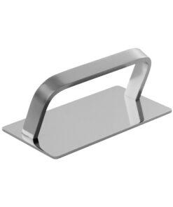 Poggiapiedi Romeo AGV Group in metallo cromato.