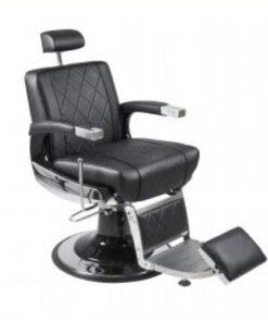 Poltrona Uomo Zeus Easy Salonitaly per parrucchiere uomo collezione Barber. Sedia girevole uomo con pompa idraulica, poggiatesta e poggiapiedi regolabili, rivestita in ecopelle.