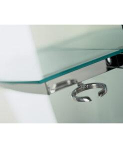 Porta-phon Tech AGV Group in alluminio lucido.