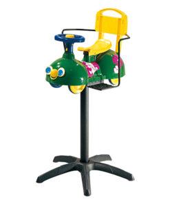 Sgabello Bruco AGV Group poltroncina bimbi a forma di divertente bruco, montato e fissato su base in plastica senza ruote.