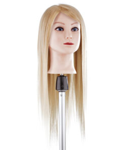 Testa studio capello extra lungo biondo Xanitalia 100% capelli naturali umani, origine indiana, lunghezza cm 55. Alta densità