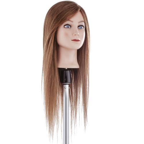 Testa studio capello extra lungo castano Xanitalia 100% capelli naturali umani, origine indiana. Lunghezza cm 55, colore 6.