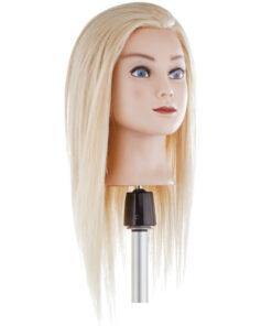Testa studio capello lungo biondo Xanitalia 100% capelli naturali umani, origine indiana. Lunghezza cm 50.