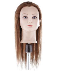 Testa studio capello lungo castano Xanitalia 100% capelli naturali umani, origine indiana, lunghezza cm 50. Colore 6