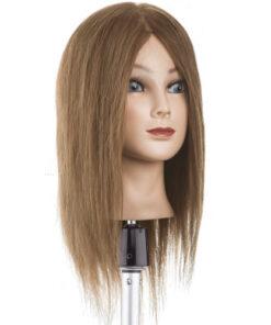 Testa studio capello medio Xanitalia 100% capelli naturali umani, origine indiana. Lunghezza cm 35. Colore 6