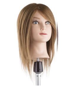 Testa studio capello medio cordo Xanitalia 100% capelli naturali umani, origine indiana, lunghezza cm 30. Colore 6.