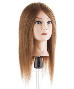 Testa studio capello medio lungo pari Xanitalia 100% capelli naturali umani, origine indiana. Lunghezza cm 35/40. Colore 6