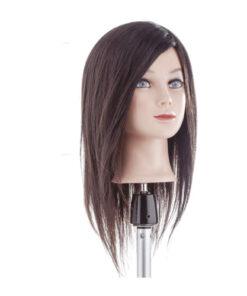 Testa Remys Capello Medio Xanitalia realizzata con capelli naturali 100% Remys. Origine Indiana. Lunghezza cm 35. Non colorati