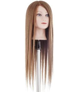 Testa studio Tecno Hair Extra Lungo Xanitalia con capelli 60% naturali umani di origine indiana e 40% in fibra sintetica. Lunghezza cm 60. Colore 6