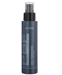 Grey Perfection Professional By Fama è uno spray che valorizza i capelli grigi e sale e pepe, per ottenere un grigio multi tono dall'aspetto naturale e neutralizzazione istantanea dell'effetto giallo.