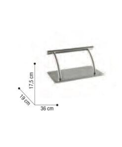 Poggiapiedi Basis Sibel in acciaio inox
