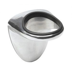 Porta Phon Convex realizzato in alluminio stampato con protezione in gomma per postazione da lavoro.