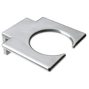 Porta Phon Omega a forma di spirale in alluminio stampato da muro. Diametro: 7 cm