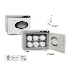 Scalda Asciugamani UV Sibel con potenza riscaldante di quasi 200W e mantiene una temperatura tra 70° e 80°. Ha due cassetti ed una lampada UV che può essere utilizzata separatamente econ la sua luce assicura la massima pulizia delle salviette.