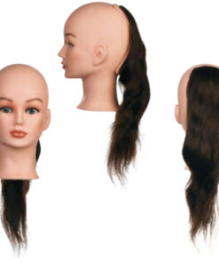 Sezione Back 1 Sibel senza testa costituita da capelli 100% umani per corsi a tema specifici. Impianto classic, densità maxi 260-290 capelli/cm2