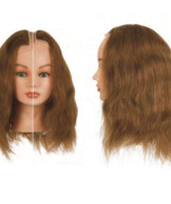 Sezioni Sinistra+Destra Sibel costituite da capelli 100% umani per corsi a tema specifici. Impianto classic, densità maxi 260-290 capelli/cm2